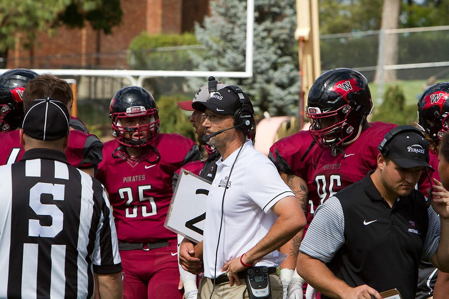 Coach Rod Sandberg is in his fourth season at the helm of the Pirates. - WHITWORTH ATHLETICS