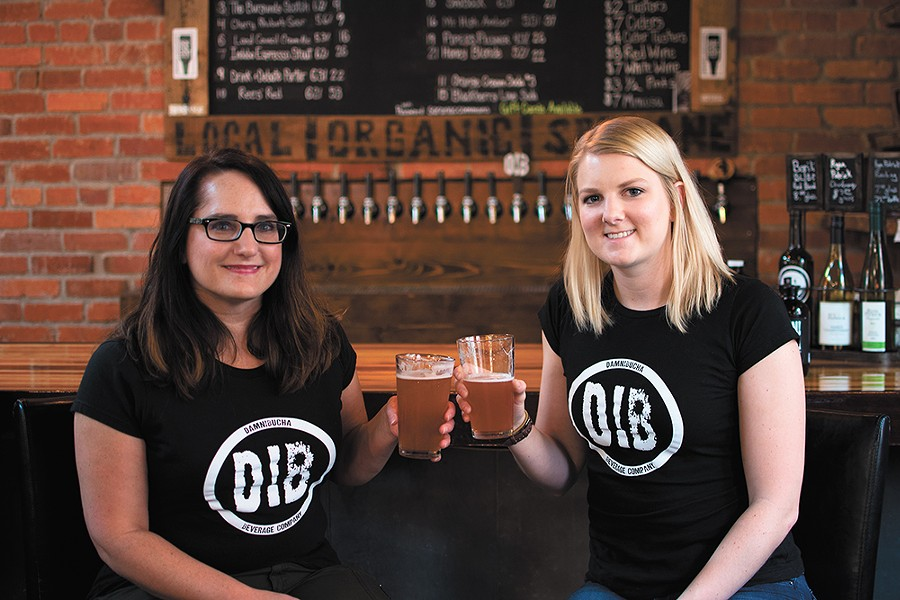 Linda Johnson, left, and Jamie Sweetser want everyone to enjoy their locally brewed kombucha. - STUART DANFORD
