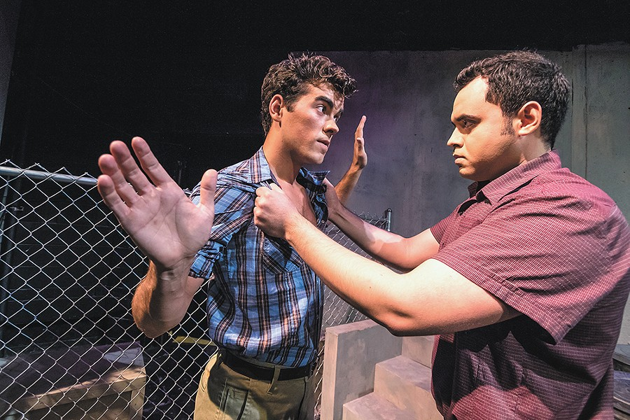 Duncan Clark Menzies (left) as Tony and Arnaldo Heredia as Bernardo. - JEFF FERGUSON