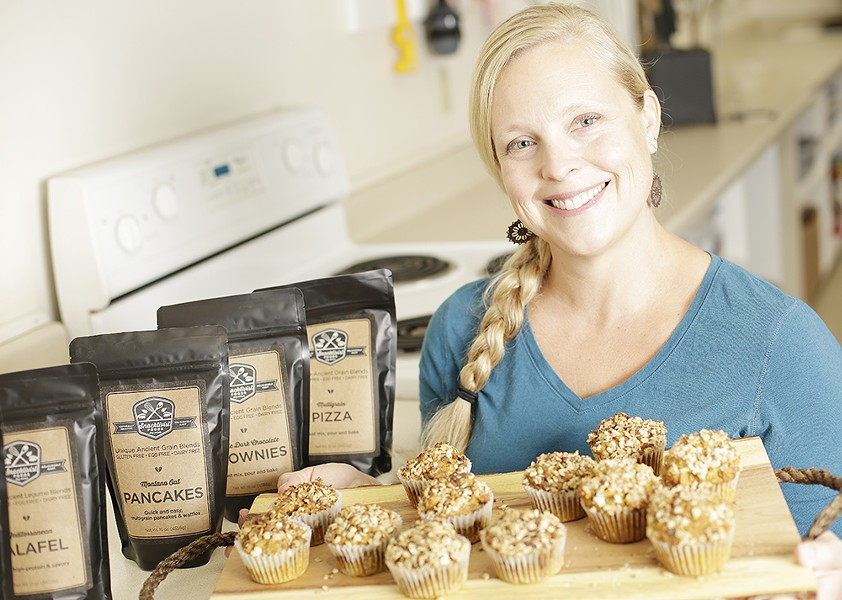 The recipes for Joni Lindwall-Moore's Snacktivist Food mixes began as experiments in her own kitchen. - YOUNG KWAK