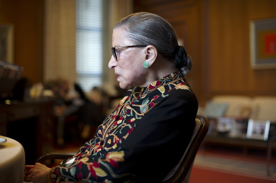 """There's only one prediction that's entirely safe about the upcoming term,"" Justice Ruth Bader Ginsburg said last month at Georgetown's law school. ""It will be momentous."" - HILARY SWIFT/THE NEW YORK TIMES"