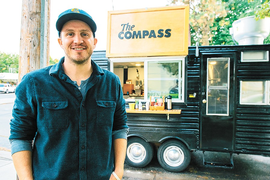 Owner Ross Carper hopes to also utilize his new Compass Breakfast Wagon to give back to the community. - ERICK  DOXEY