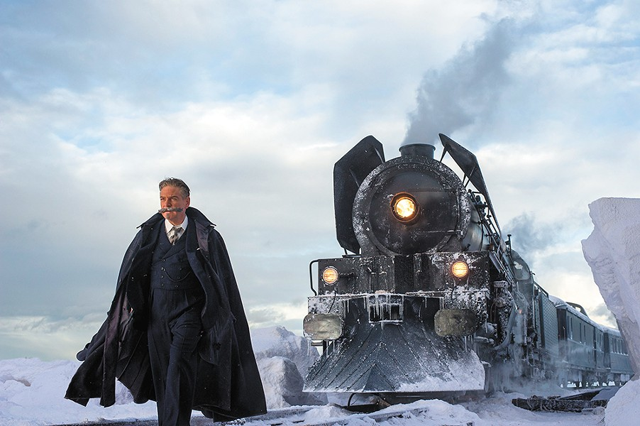 Kenneth Branagh is all mustache and no character in his new adaptation of Agatha Christie's famous whodunit Murder on the Orient Express.