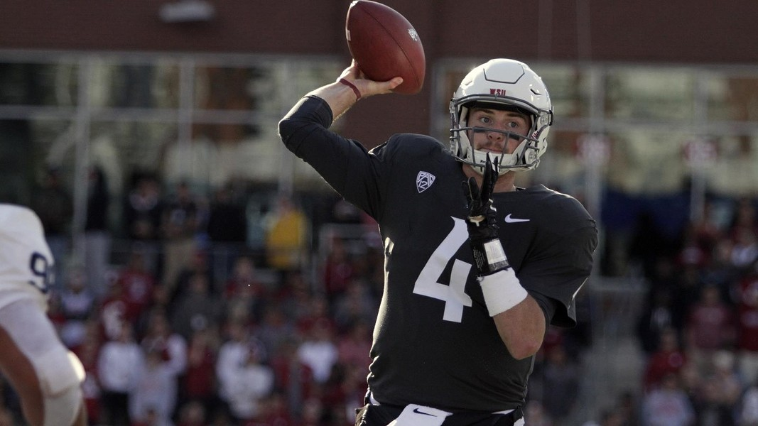 Luke Falk, who was born in Logan, Utah, and returned there for his final two years of high school, broke Matt Barkley's Pac-12 career record for touchdown passes of 116 as the Cougars defeated Utah 33-25 in Salt Lake City. - WSU ATHLETICS