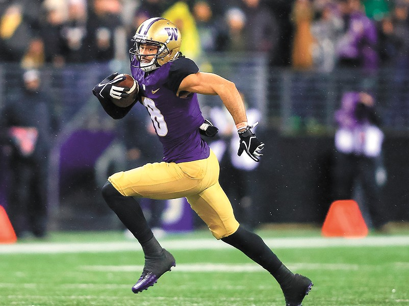 Husky receiver and punt returner Dante Pettis is a serious weapon for UW. - UW ATHLETICS