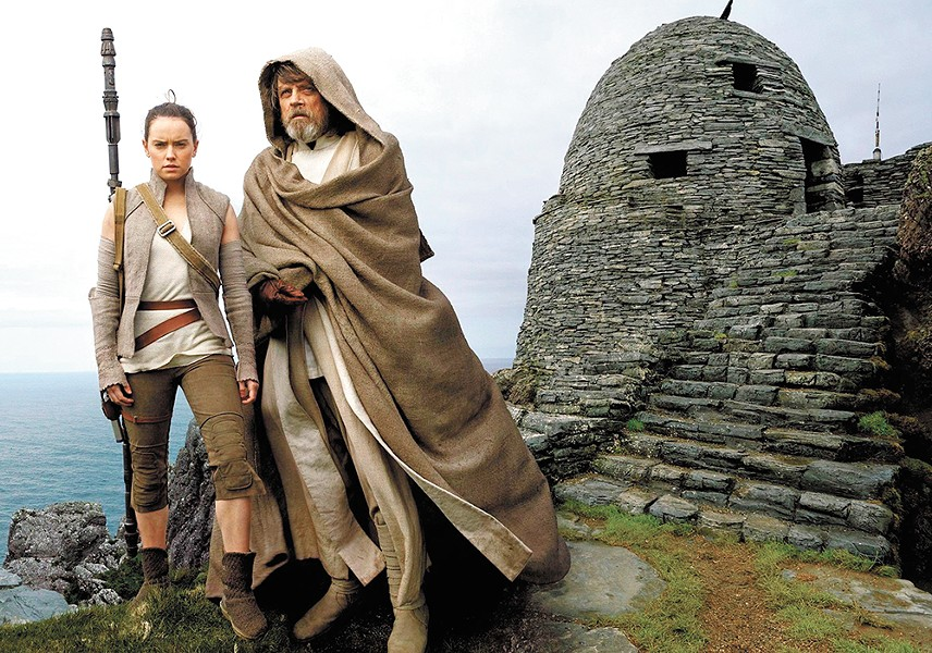 Luke Skywalker is led into the new Star Wars franchise by Rey.