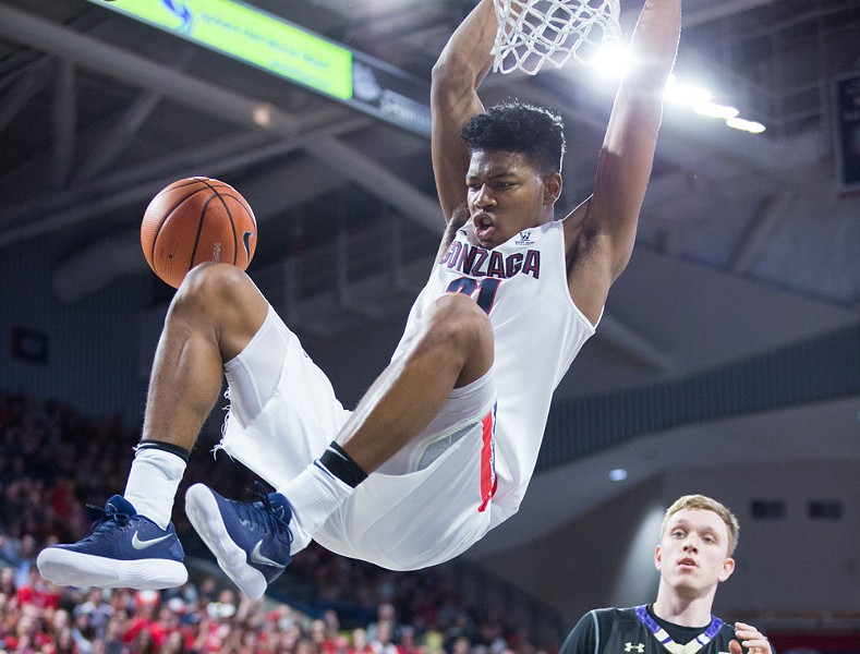 Rui Hachimura is coming into his own in conference play. - LIBBY KAMROWSKI