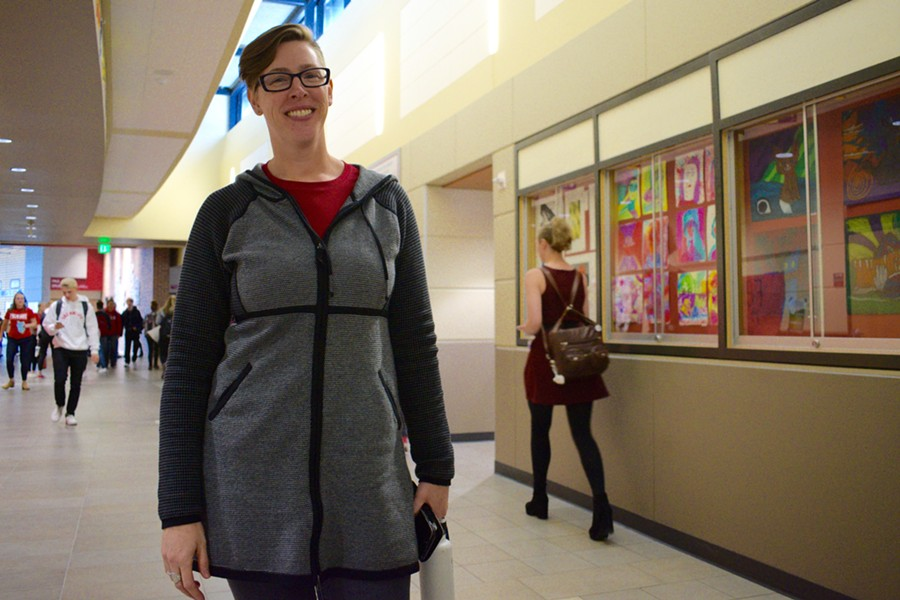 Mandy Manning works to make her students feel welcome in the United States - WILSON CRISCIONE PHOTO