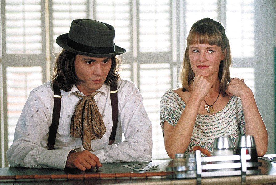 Johnny Depp as Sam, and Mary Stuart Masterson as Joon.