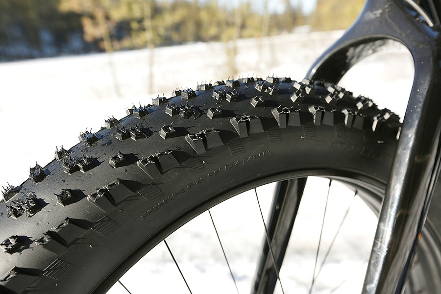 Fat tires can be nearly five inches wide, allowing riders to cross soft or rugged terrain. - YOUNG KWAK