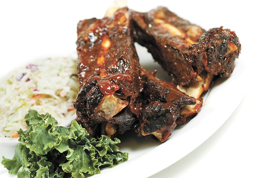 Bison ribs from Sweet Lou's Restaurant and Tap House