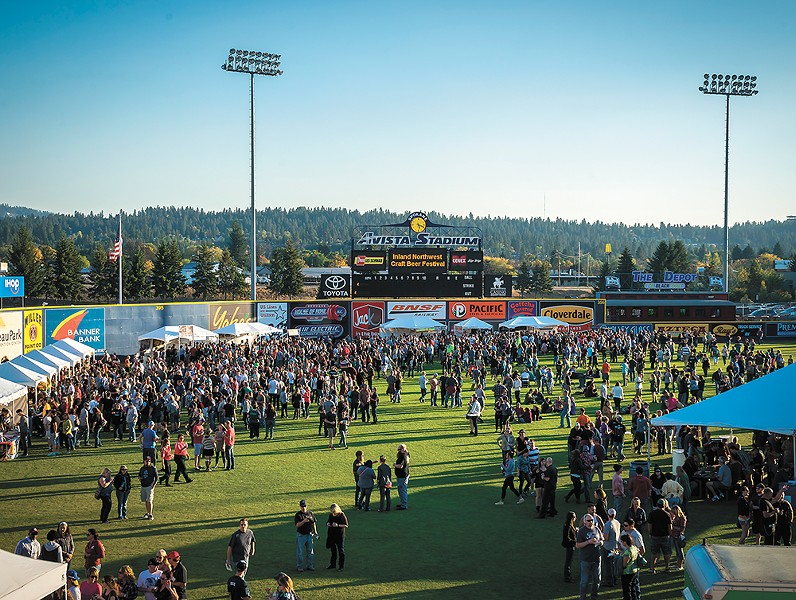 Angels, er, beer in the outfield of Avista Stadium for the Inland NW Craft Beer Festival.