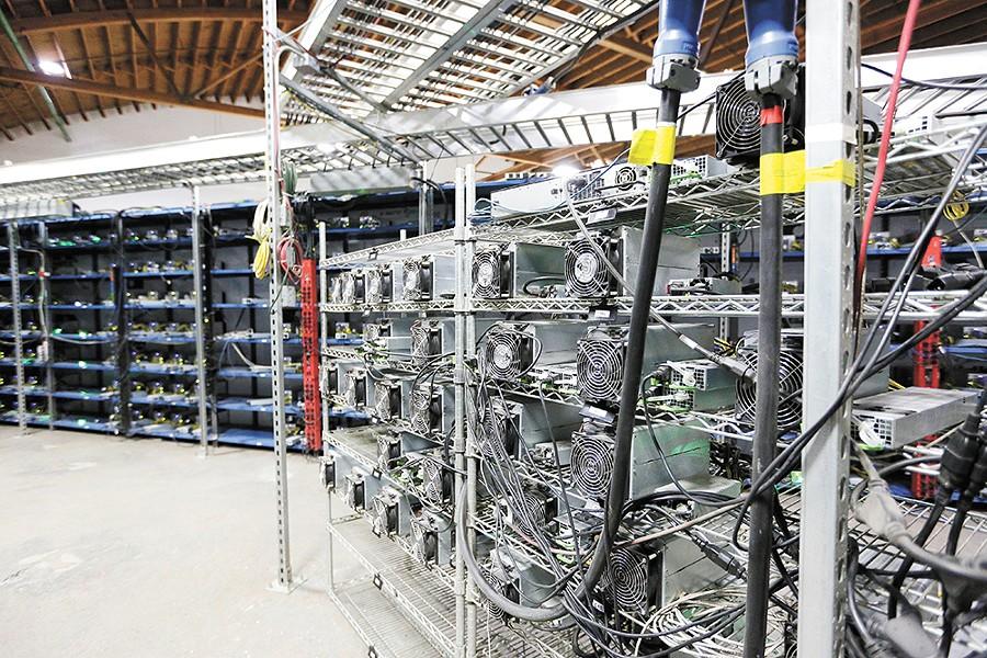 Mining hardware at Malachi Salcido's Columbia Data Center. - YOUNG KWAK