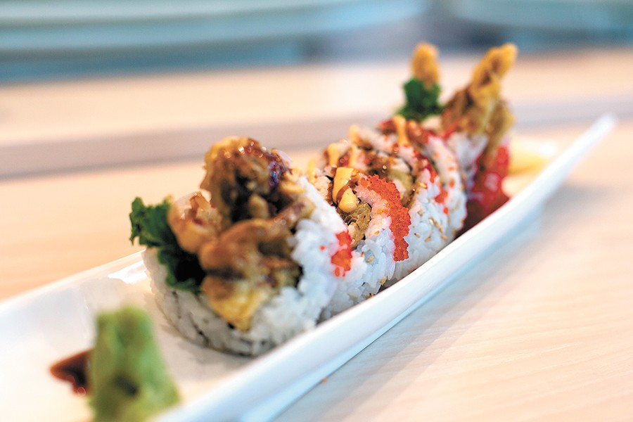 The classic spider roll is one of many specialty rolls on Umi's sushi menu. - TESS FARNSWORTH PHOTO