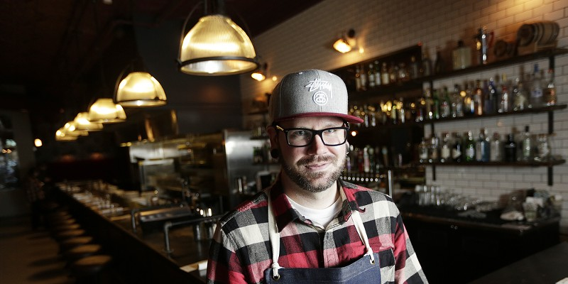 2016 Year in Review: Photos by Young Kwak Executive Chef Shaun Chambers poses for a photograph at Durkin's Liquor Bar, Wednesday, Jan. 20, 2016, in Spokane, Wash. (Young Kwak/Pacific Northwest Inlander) Young Kwak