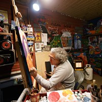 Year In Review: Photos by Young Kwak Ric Gendron works on an untitled acrylic painting at his studio, Tuesday, Feb. 3, 2015, in Spokane, Wash. (Young Kwak/Pacific Northwest Inlander) Young Kwak