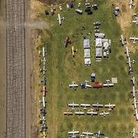 Drone photography of the Inland Northwest The Wings Over Republic Fly-in is an annual event at the Curlew Lake Airport. Myk Crawford photo