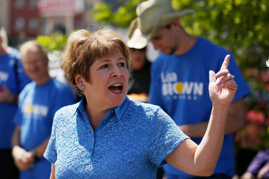 Washington state 5th Congressional District Democratic candidate Lisa Brown at a campaign event in May. - YOUNG KWAK
