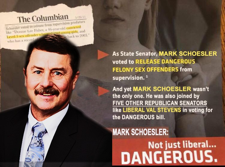 What the Cathy McMorris Rodgers mailer would look like if applied to a Republican state senator who voted for the same bill as Brown. - DANIEL WALTERS PHOTOSHOP