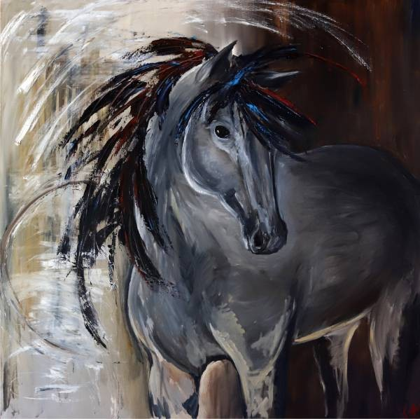 Painting, Spirit Horse by Jenn Tate.