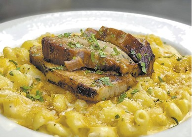 Pork Belly Mac & Cheese available during The Great Dine Out