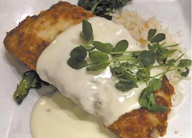 Parmesan Crusted Halibut available during The Great Dine Out