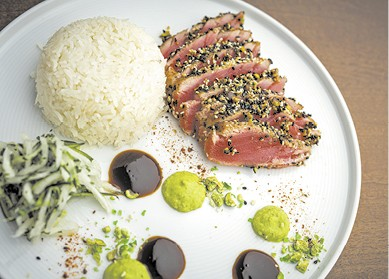 Pistachio-Sesame Crusted Ahi-Tuna available during The Great Dine Out