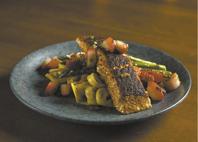 Blackened Salmon with Strawberry Salsa available during The Great Dine Out