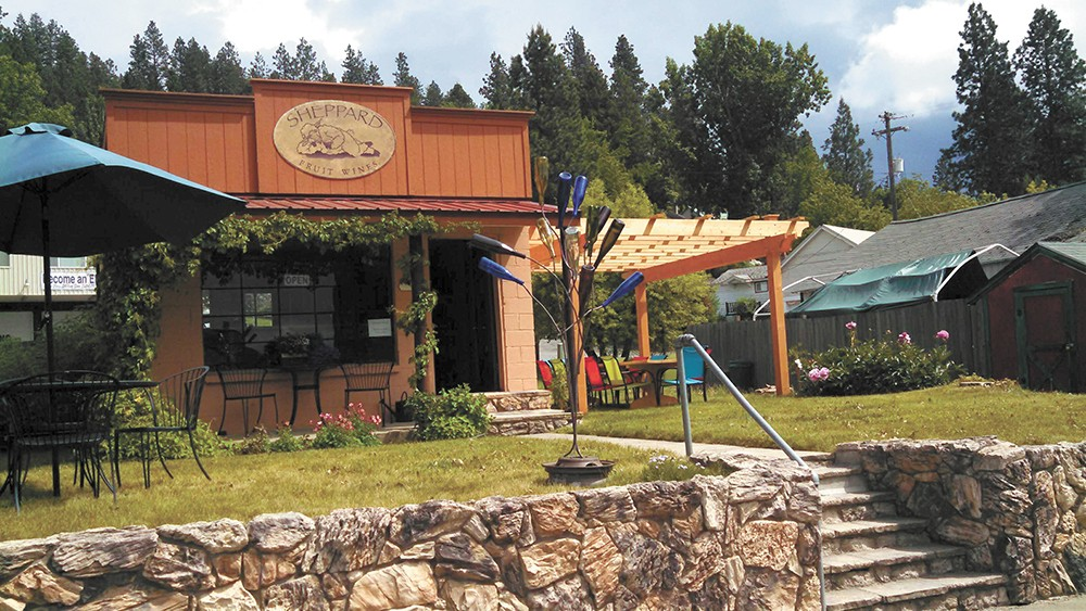 Sheppard Fruit Wines has found a pleasant home and plenty of fans in Harrison, Idaho. - CARRIE SCOZZARO