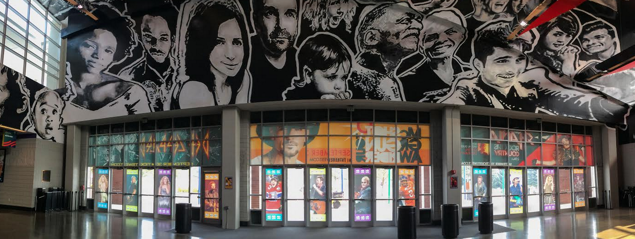 A new mural at the Spokane Arena by Todd and Cain Benson. - JEFF FERGUSON PHOTO