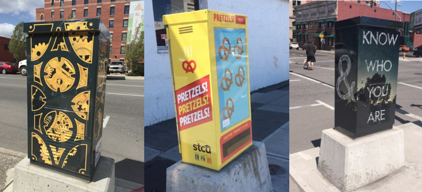 The first phase of a project to liven up drab traffic signal boxes on Second Avenue happened last spring.