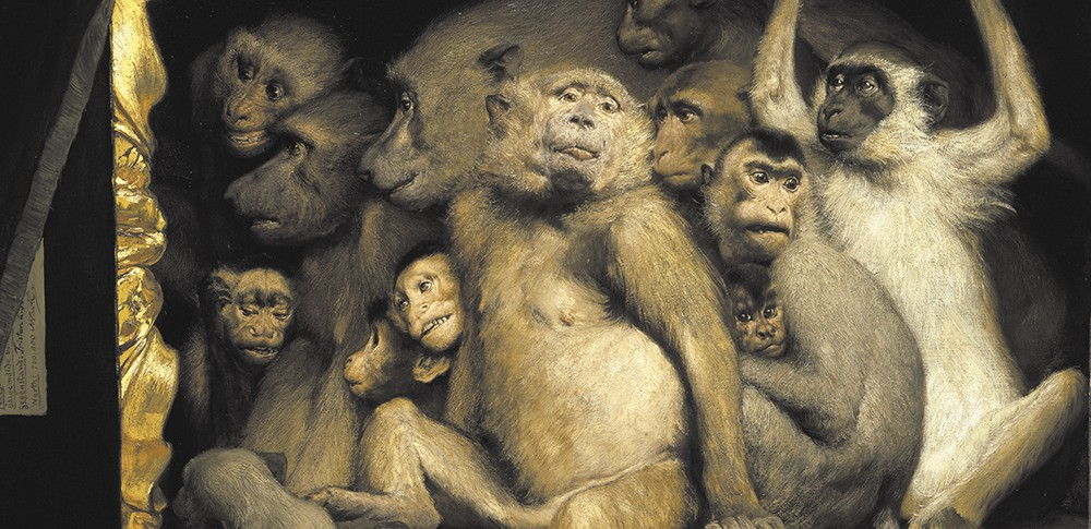 Monkeys as Judges of Artby Gabriel von Max.