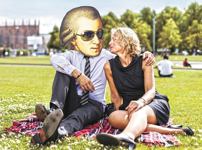 Who wouldn't want to hang out with Mozart?