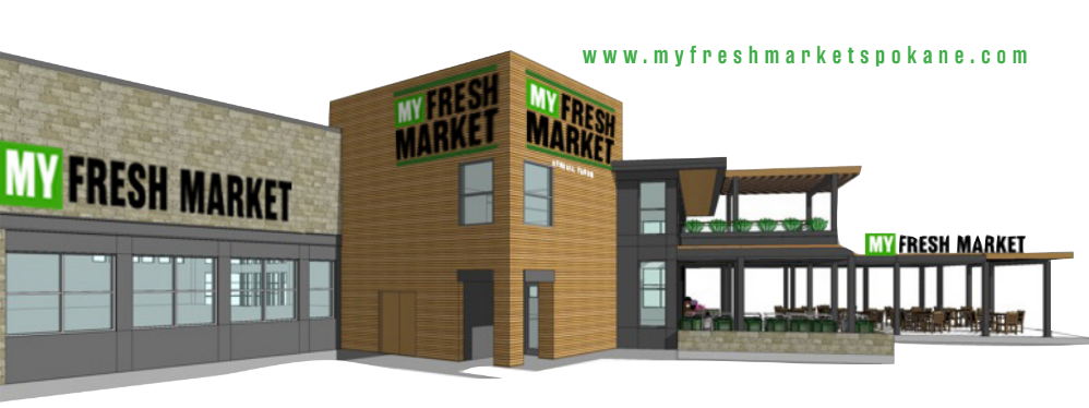 A rendering of what the new Kendall Yards' grocer will look like.