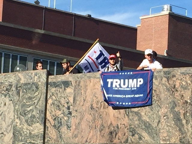 Trump supporters at WSU. - TAEHLOR CRIM