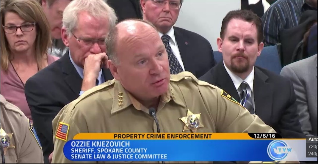 Sheriff Ozzie Knezovich objects strongly to the suggestion that he can be blamed for Spokane County's high property crime rate.