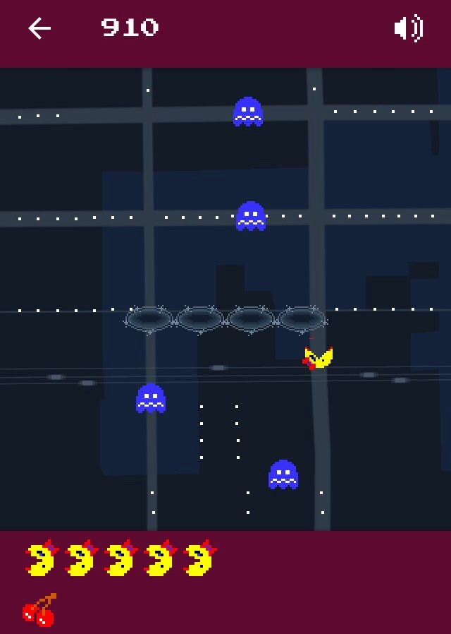 Ms. Spo-Pac-Man is here on Google Maps