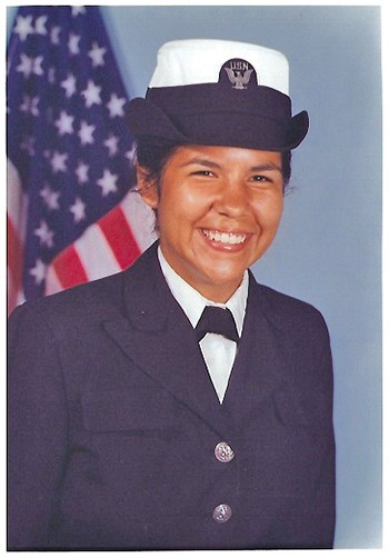 Lori SiJohn in her Navy uniform