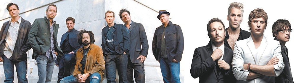 Counting Crows (left) and Matchbox Twenty want you to party like it's 1995 during their co-headlining show at the Arena.