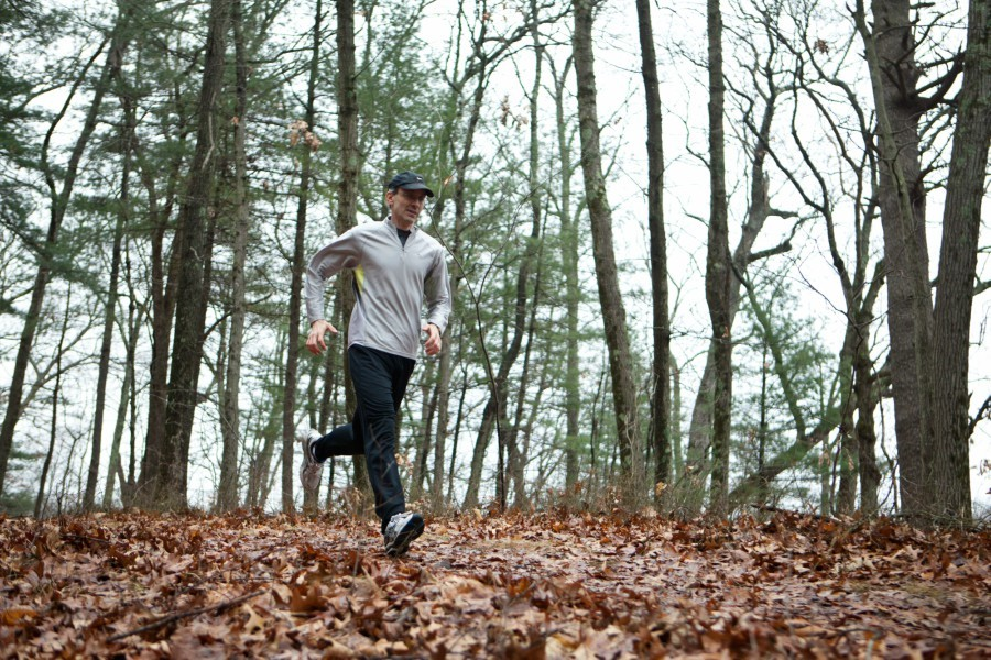 "Dr. J. Michael Gaziano, a Harvard cardiologist, out for a run on trails in Dedham, Mass., Dec. 23, 2014. Federal researchers say they have conclusively determined that ideal blood pressure rates are far lower than the current guidelines, ending the study more than a year early in order to disseminate the life-saving information. ""This study will shake things up,"" said Gaziano, who was not involved with the study. - KAYANA SZYMCZAK/THE NEW YORK TIMES"