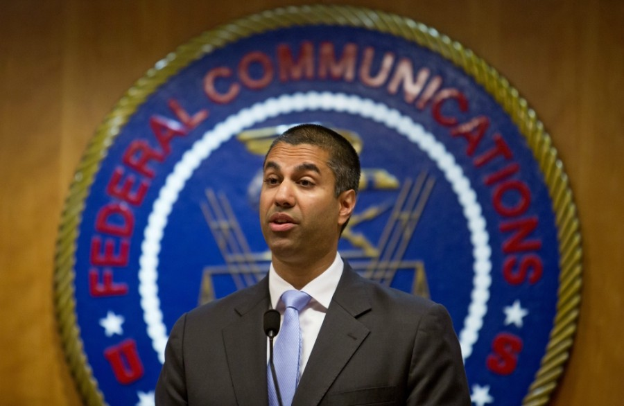Ajit Pai, chairman of the Federal Communications Commission, at the federal agency's headquarters in Washington, June 23, 2017. - ERIC THAYER/THE NEW YORK TIMES