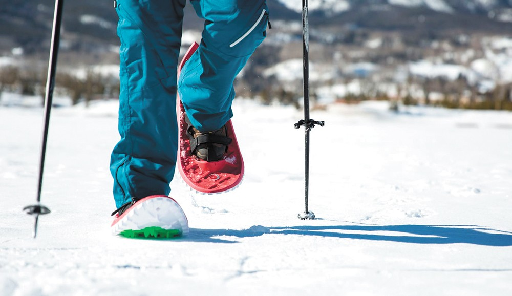 If speeding down a mountain isn't your idea of fun, fret not — there are plenty of other options, like snowshoeing.