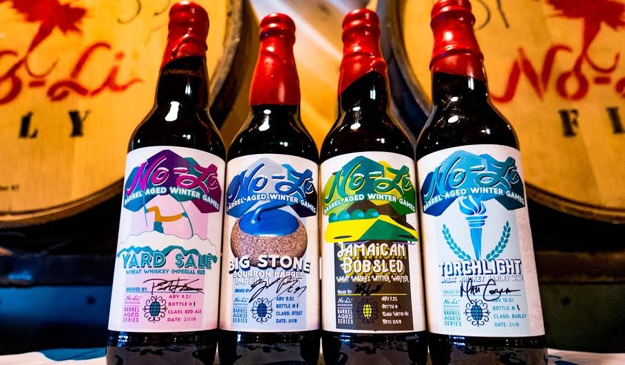 Stop by No-Li's taproom to purchase bottles of its limited-release, Winter Olympics-themed beers. - NO-LI BREWHOUSE