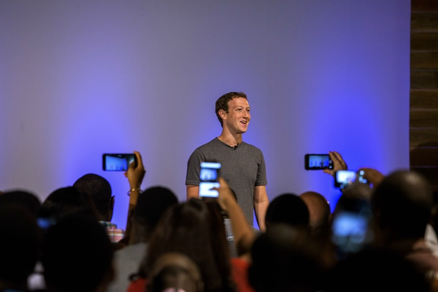 Mark Zuckerberg, the chief executive of Facebook, during a town hall meeting with software developers and entrepreneurs in Lagos, Nigeria, Aug. 31, 2016. - ANDREW ESIEBO VIA THE NEW YORK TIMES
