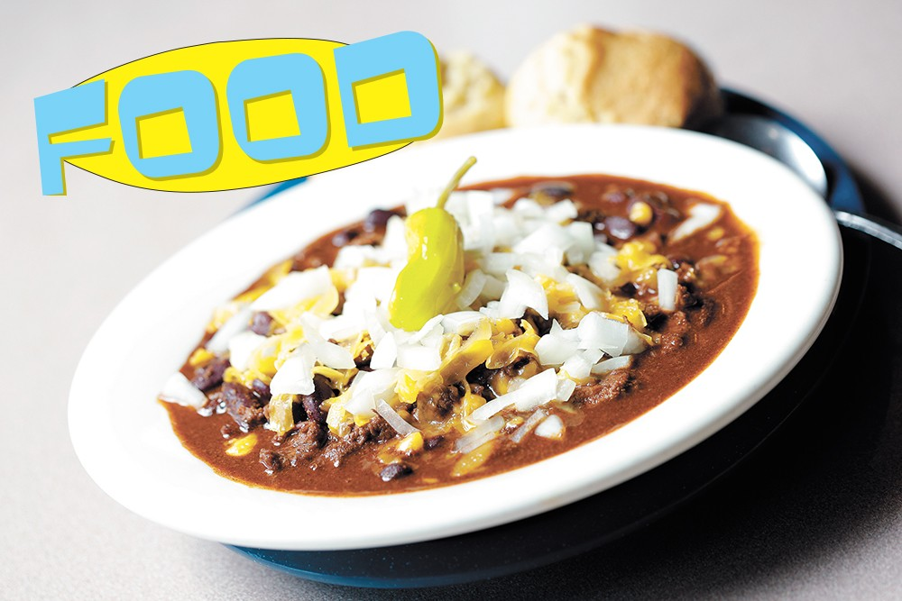 click to enlarge Longhorn's Texas chili. - YOUNG KWAK