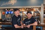 Owners Gabe Wood (left) and Alex King at Heritage Bar & Kitchen.