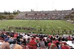 Joe Albi Stadium rarely has a big crowd.