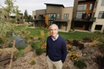 Roger Fruci's vision of a community united by a garden is coming to fruition in the Bella Terra townhouse development.