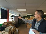 Steve Allen talks about the new Open Doors location in the Cassano's Grocery building on Mission.
