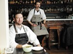 Clover chef Travis Dickinson (front) and sous chef Cody Geurin